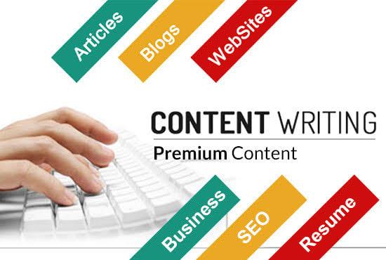 1000 words article writer or blog writer