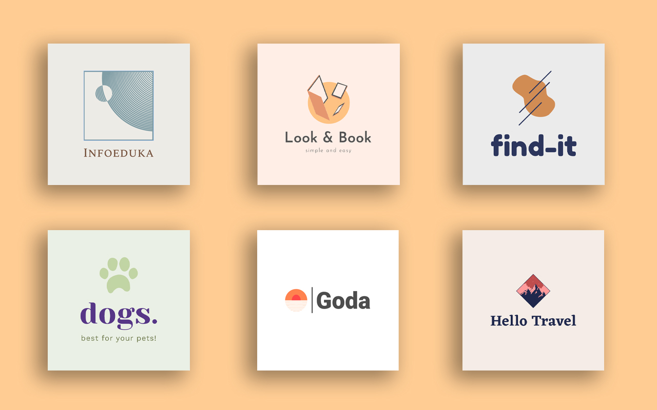 I will design 2 professional,  simple,  flat logos for your website or business