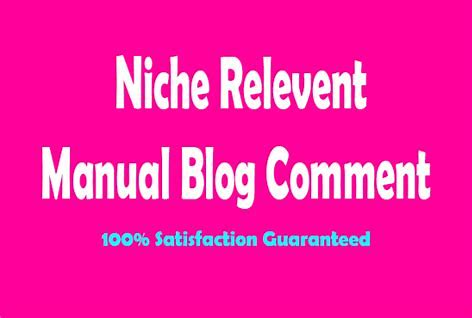 I will do 100 niche relevant blog comments