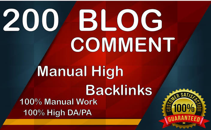 I will do 200 blog comments manual high backlinks
