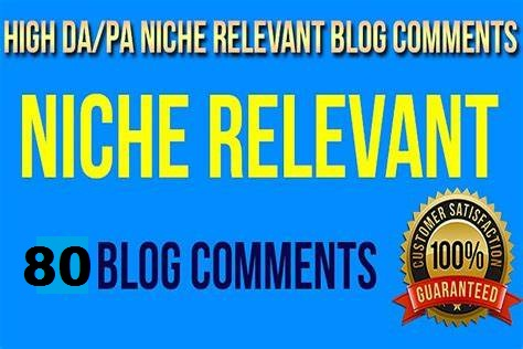 I will do 80 niche relevant authority blog comments high quality backlinks