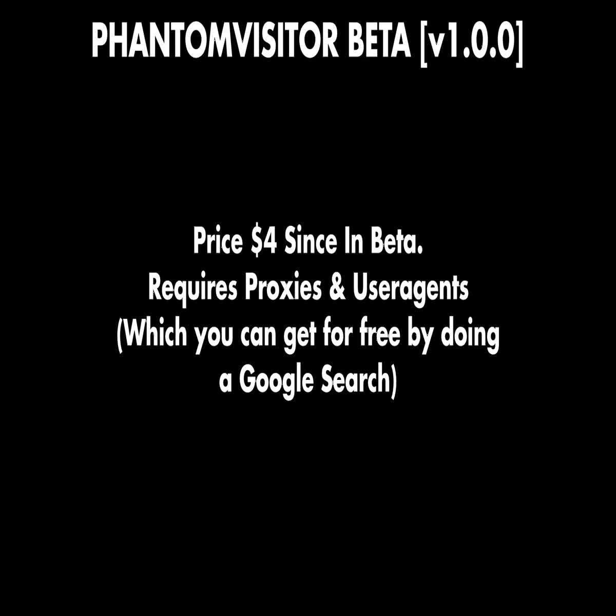 Phantom Viewer | Get Unlimited Traffic With This Bot | Supports User Agents & Proxies
