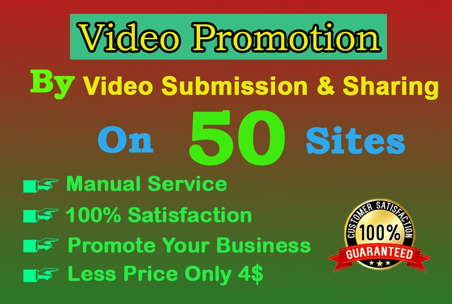 I will do video submission on high DA video sharing sites