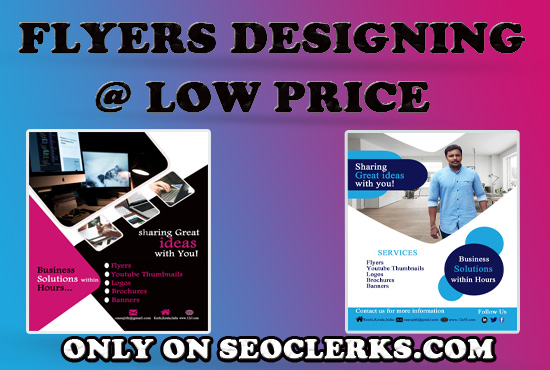 I will do a flyer,  bifold,  trifold,  brochure design low price