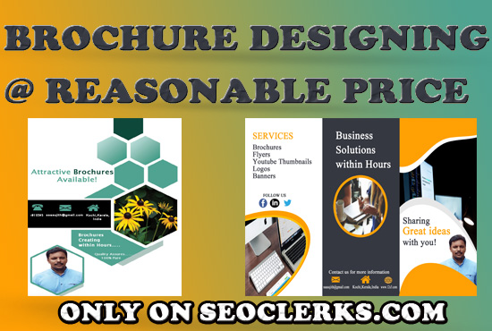 I will design brochures at reasonable price with unlimited revisions
