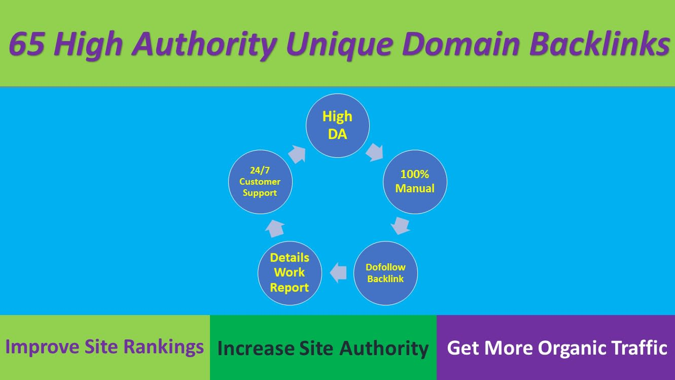 I will Build 65 Manual High Authority Do-follow Links with 2000 2nd Tier Links for 1st page ranking
