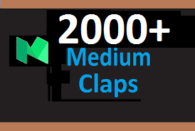 Give You Real 2000 Medium Claps