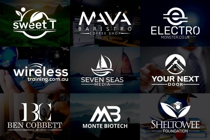 I will design modern minimalist typography logos