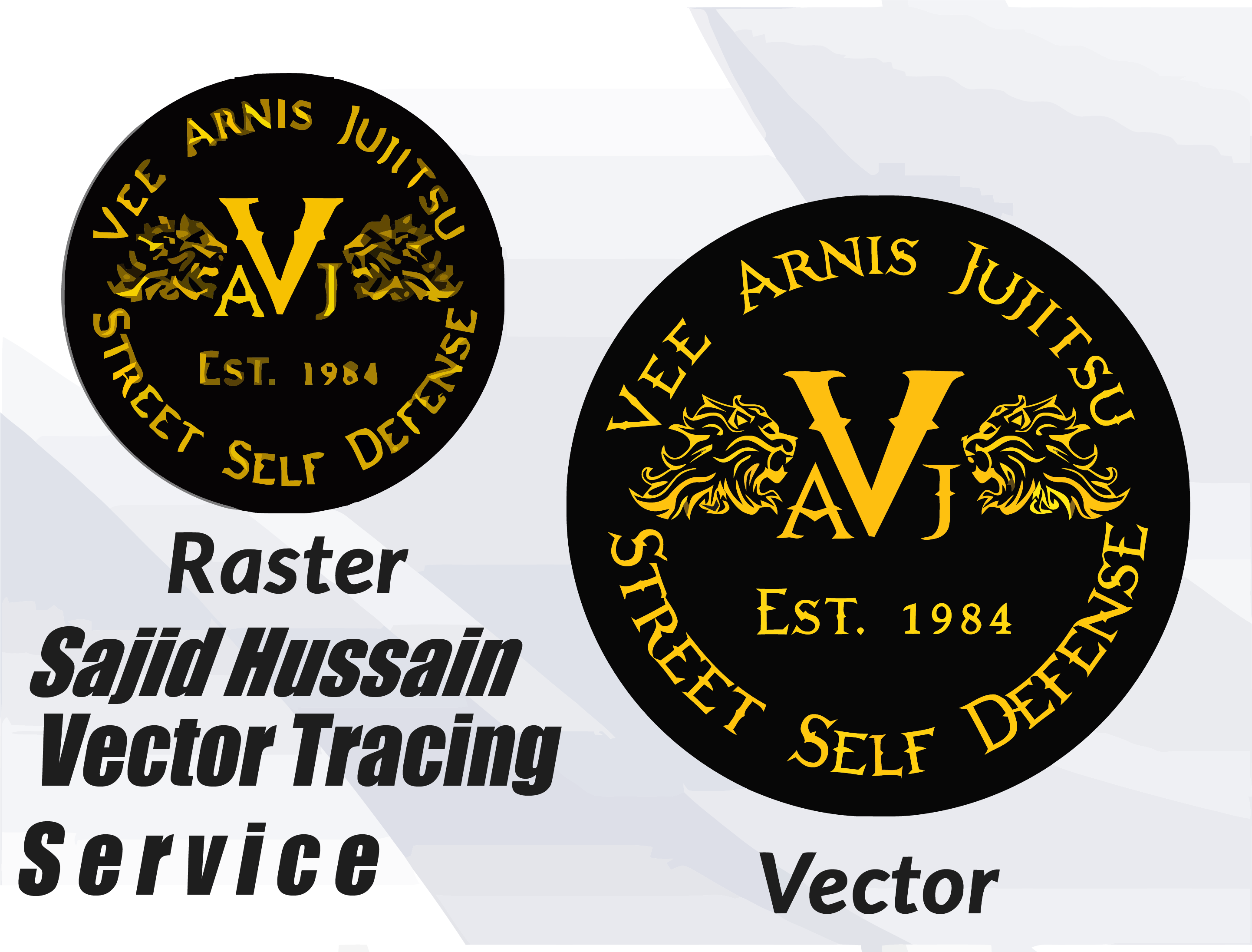 redraw your existing logo image as high resolution vector