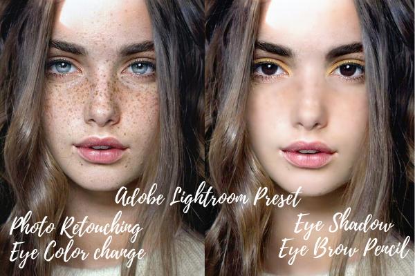 I will edit your selfies,  photo retouching, teeth whitening, eye color change, lightroom preset