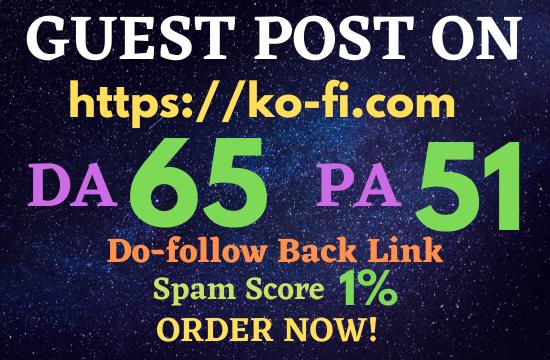 Write & Publish Guest Post On ko-fi. com DA 65 PA 51