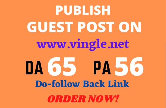 Write and publish premium guest post on vingle. net