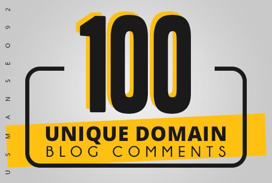 I will create 100 do follow domain unique backlinks