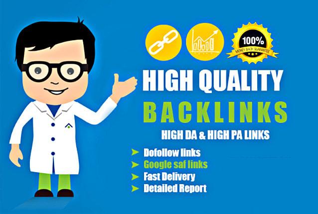 I will create 100 backlinks do follow with high da pa