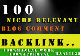 I Will Provide 100 Niche Relevent Blog Comments Backlinks