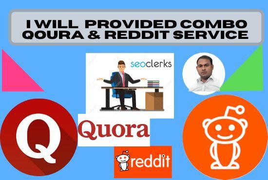 I will provide Qoura & reddit 10 post