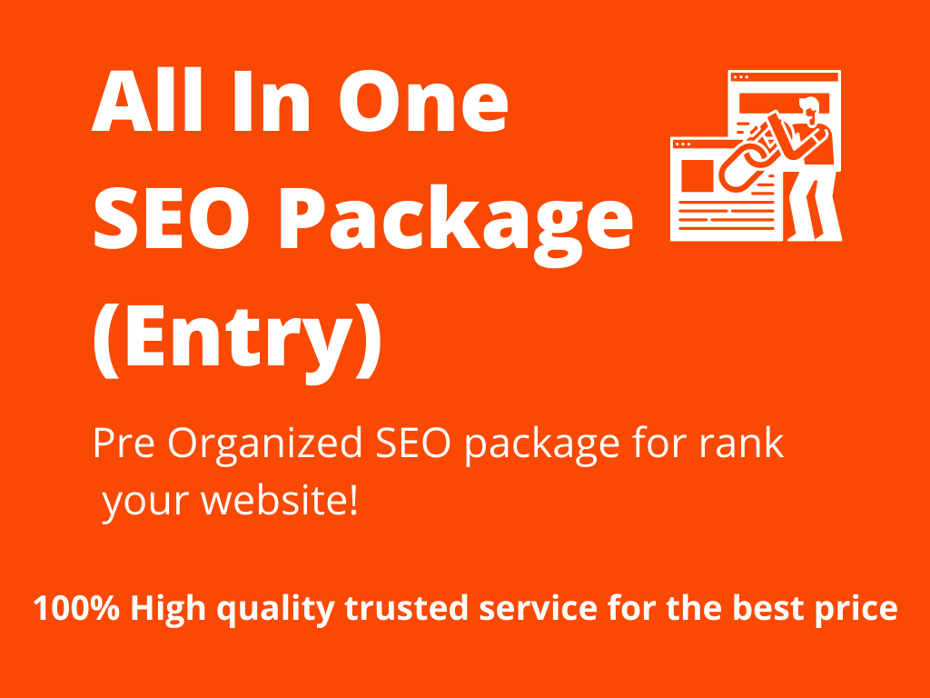 All In One SEO Package Entry - High Authority 3 Tier Link Campaign - Google 1st Page Pusher