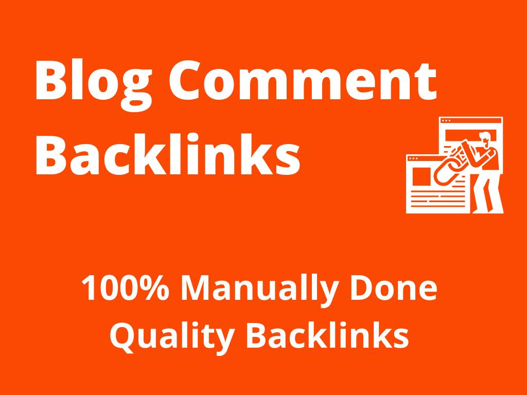 100 High Quality Blog Comment Backlinks