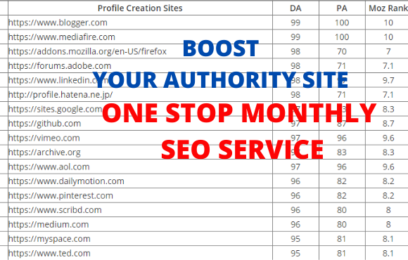 I will Create elevate your ranking, monthly SEO services