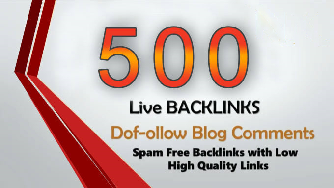 I will create Manually 500 Dofollow blog comments backlink with high DA PA & TF CF