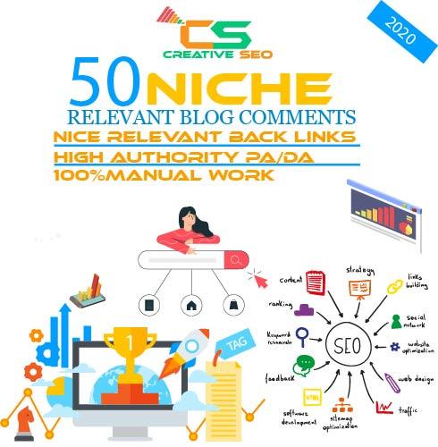 Seo Service Niche Revelant Backlink Blogcomments for website google top ranking