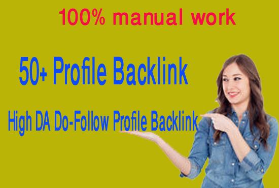 Create manually 50 high da profile backlinks with high pr