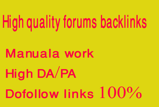 Create manually 30 dofollow forums backlinks with high pr