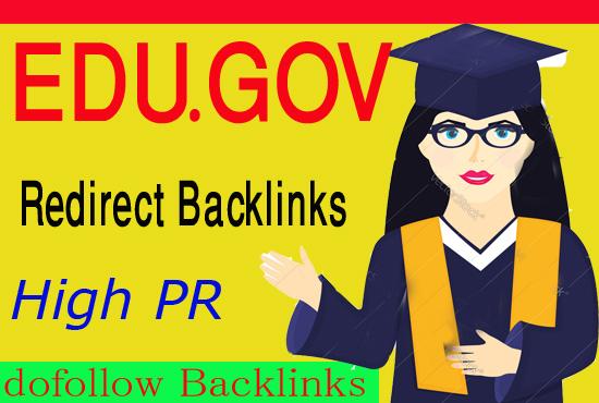 Create 50+ EDU GOV Redirect dofollow Backlinks