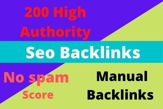 Create 200 high authority seo backlinks