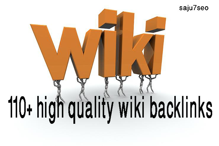 Manually create 110+ high quality wiki backlinks