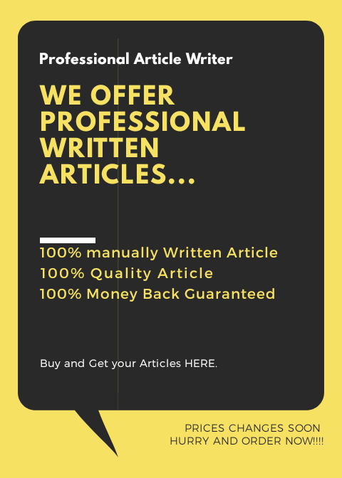 Get great ARTICLES manually Written of your choice at a Speed Delivery of 4