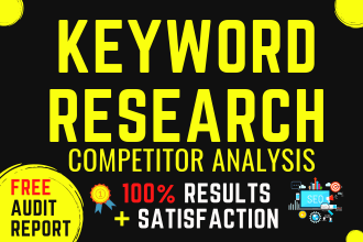 I will find the best seo keywords for your website with deep competitor analysis