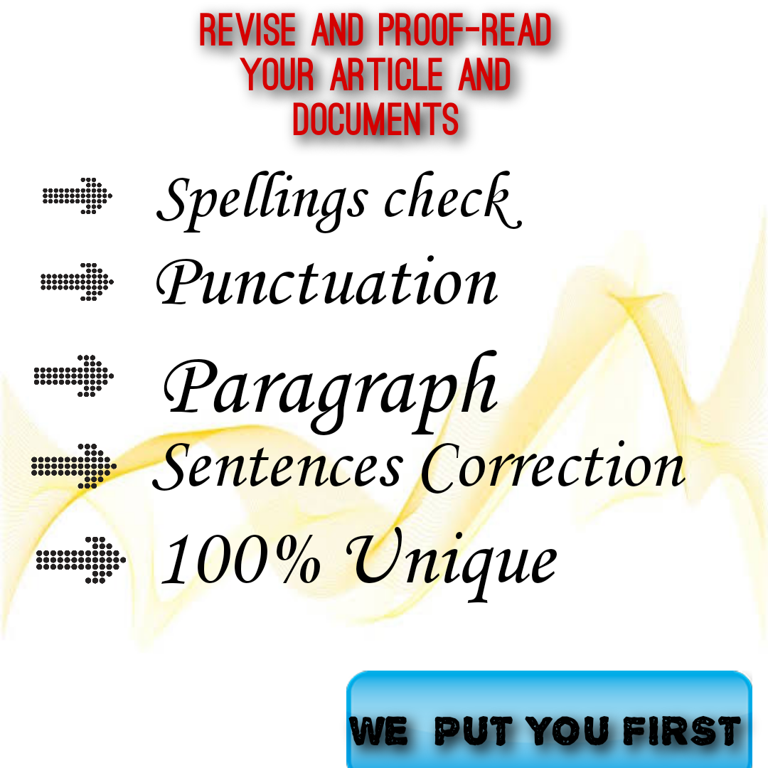 Proofreading and Rephrasing service available for different languages