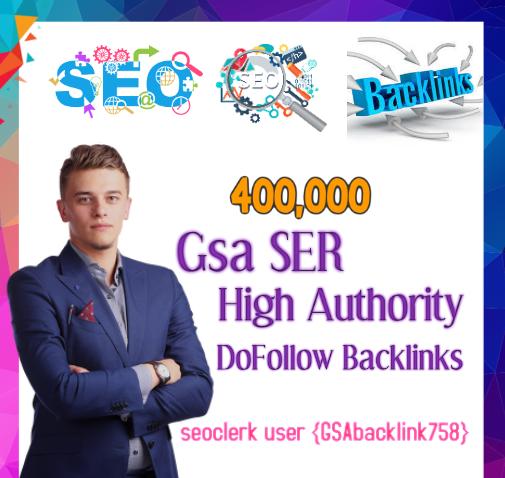 Top Most powerful 400,000 Gsa Ser backlinks,  high quality SEO links