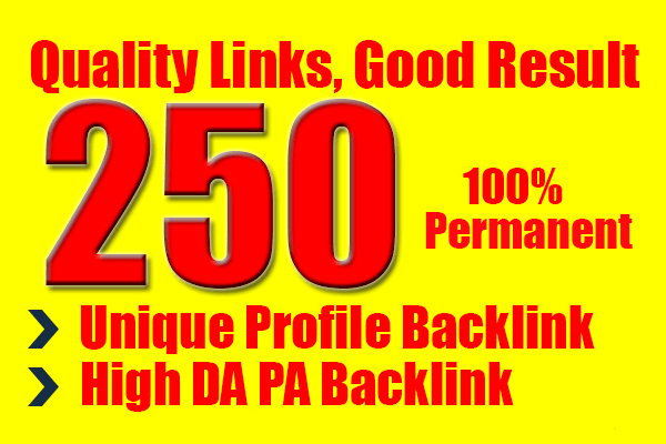 Build 250+ Backlink with High DA/PA/TF/CF On your homepage with Unique websitelink