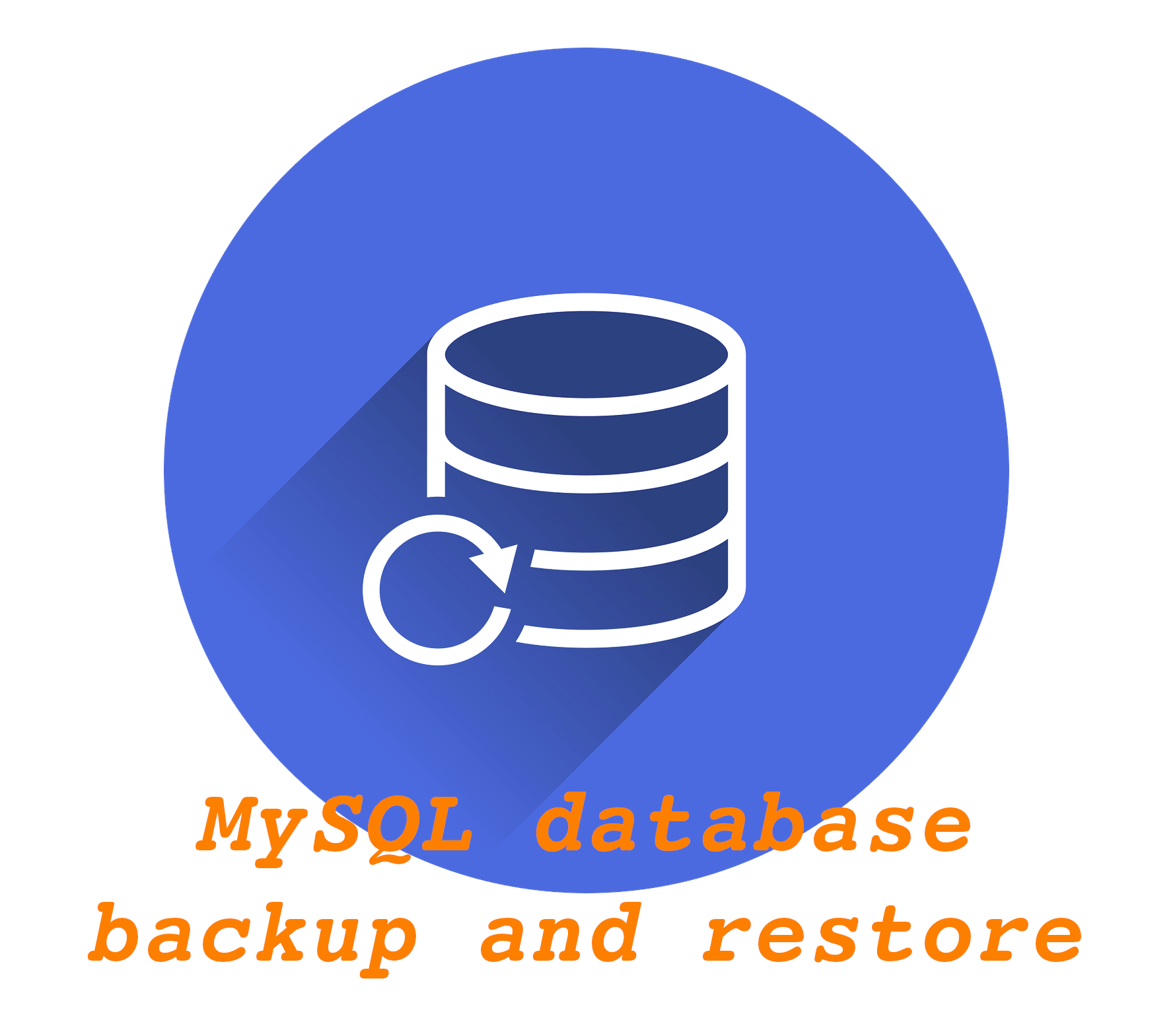 I will do mysql backup and restore