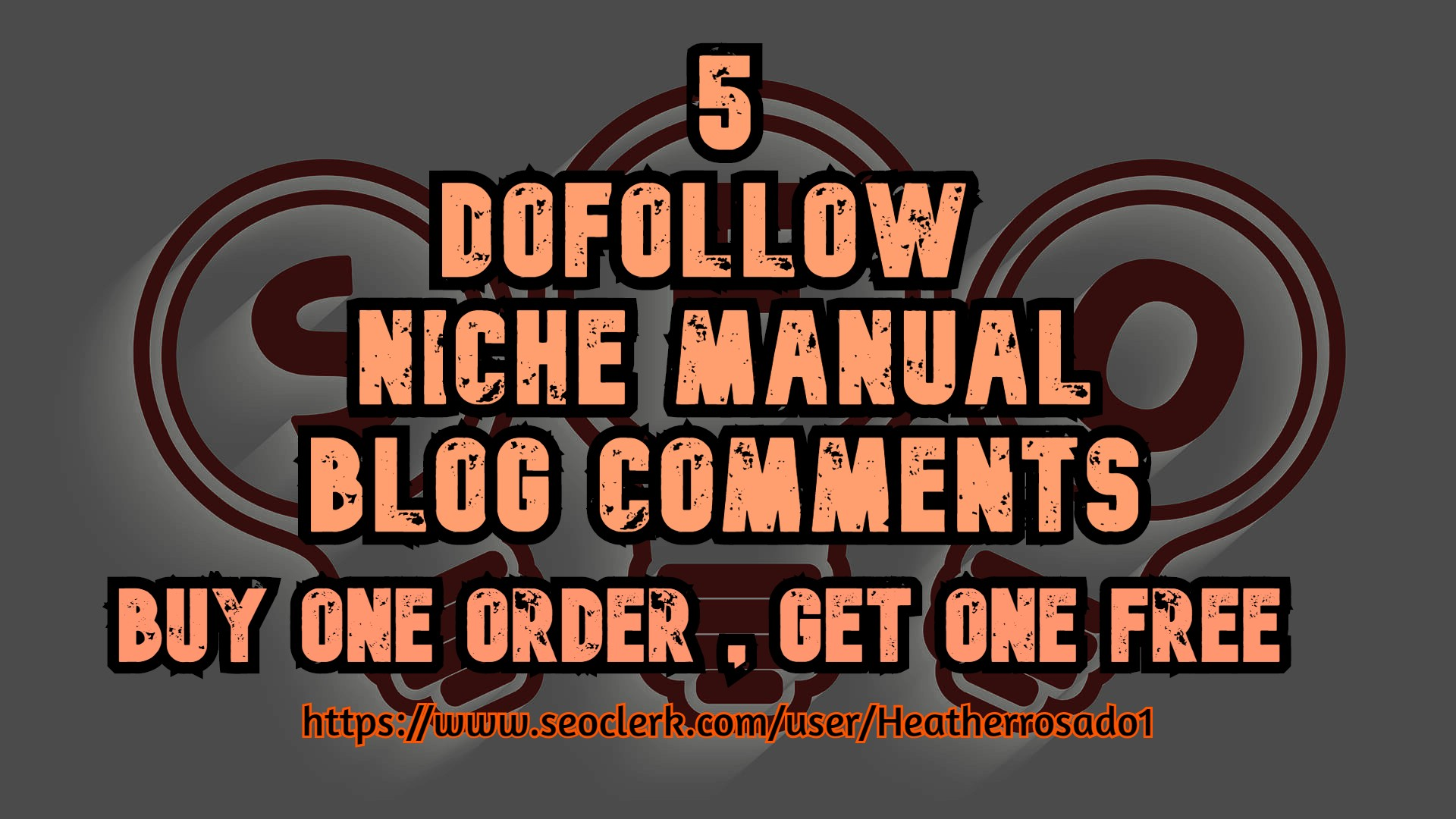 i will do 5 dofollow niche manual blog commenting