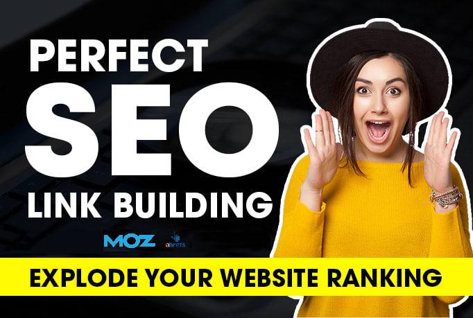 create 250 white hat SEO backlinks,  link building