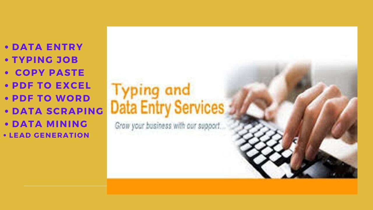 I will do cheapest excel data entry typing work,  web research for you