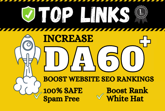 I will increase your website domain authority da 60+ for google rankings