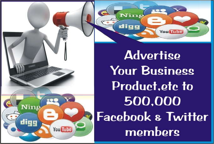 I WILL ADVERTISE FOR YOU ON POPULAR SOCIAL MEDIA PLATFORMS