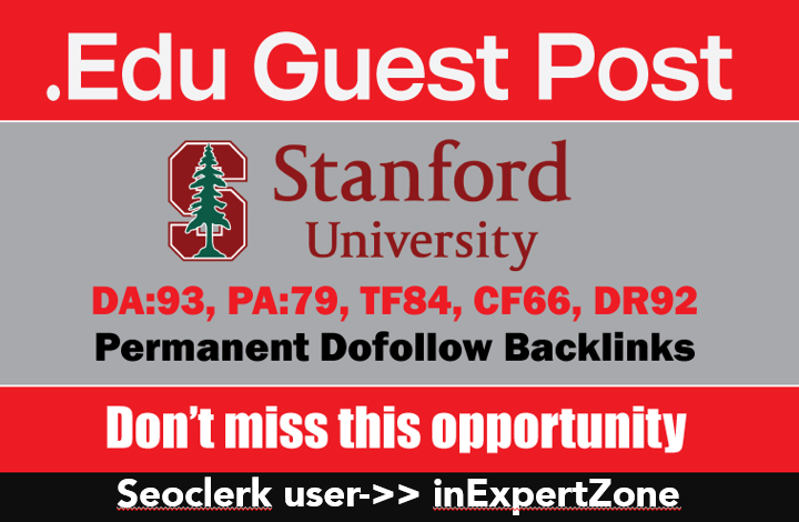 I will publish your article On Stanford DA93,  DR92 - Dofollow Link
