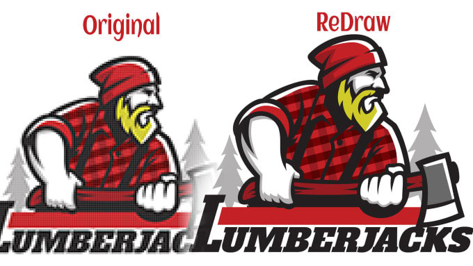 Logo redraw to be vectors quality and quick