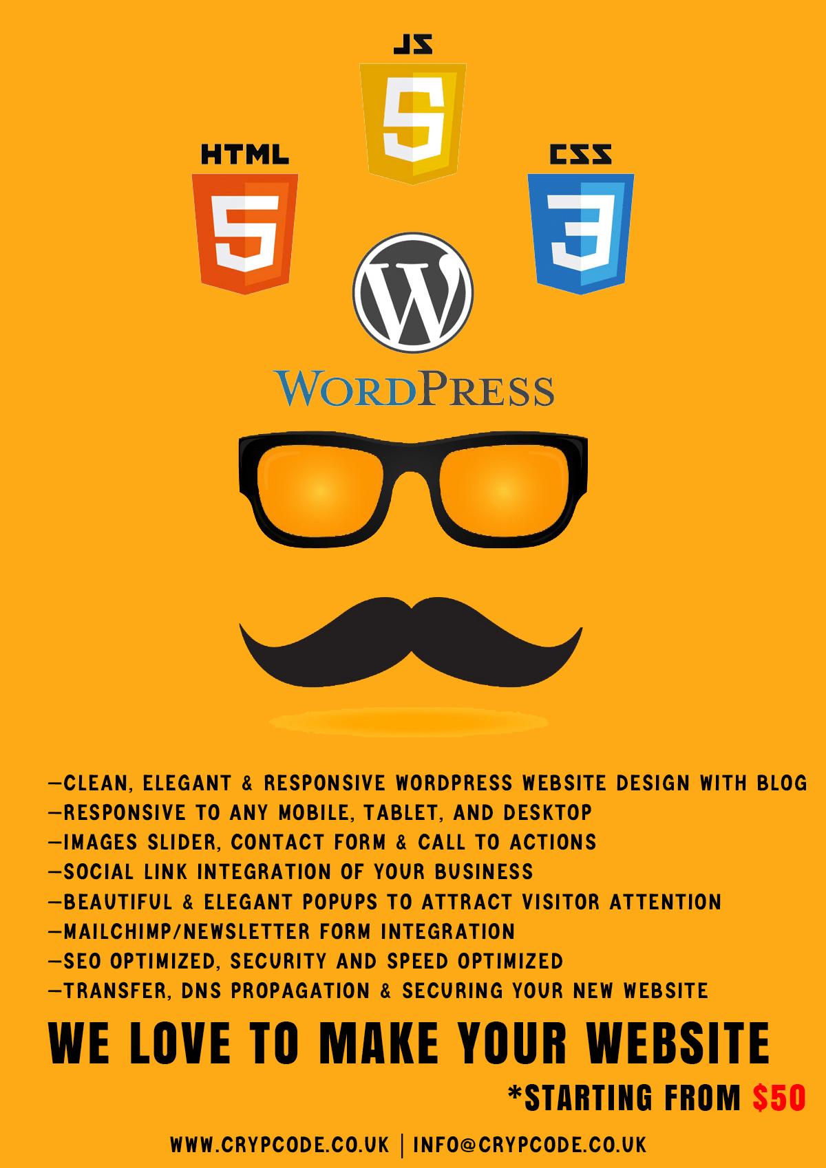 I will create a mind blowing wordpress website