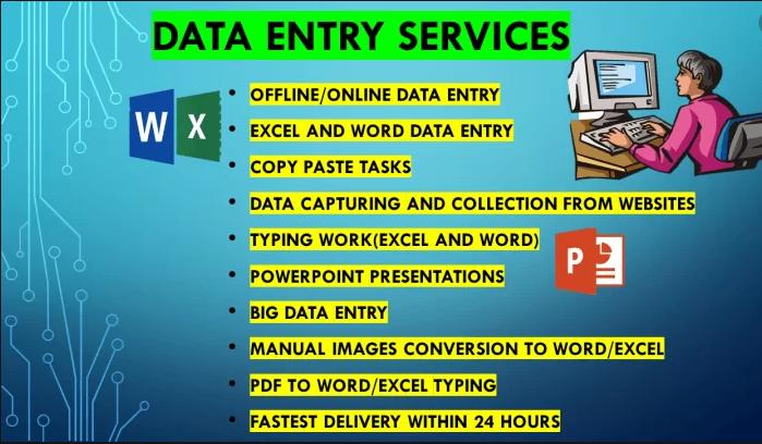 I will enter your data,  do copy paste,  pdf conversion