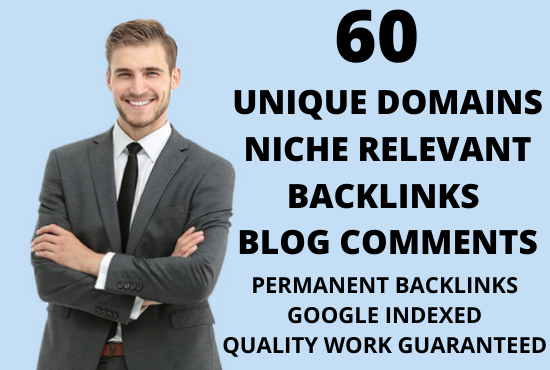 Increase your website visitors very fast with our 60 manual niche relevant blog comments backlinks