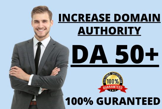I will increase your website MOZ domain authority DA 50+ Guaranteed