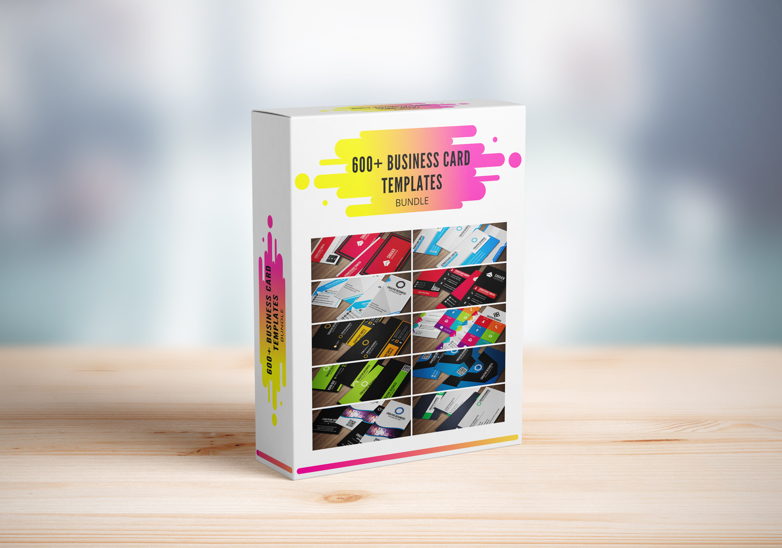 I will give you 600+ creative business card templates PSD