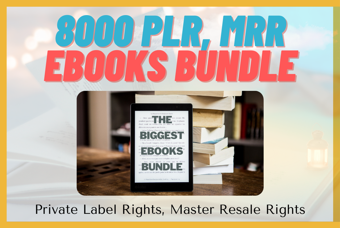 8000+ PLR MRR Ebooks Mega Bundle