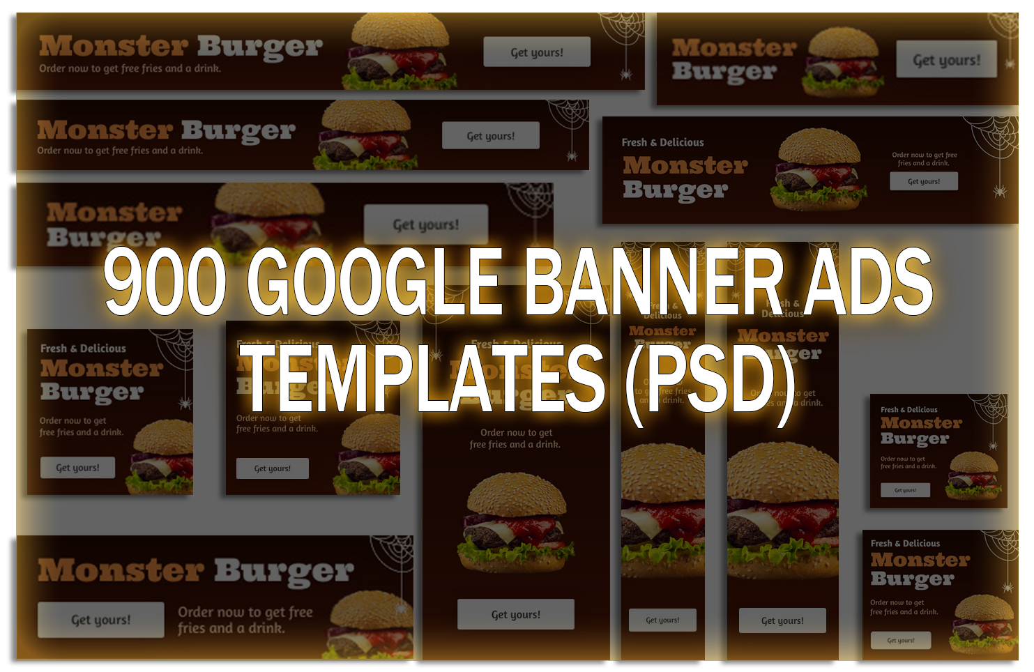 i will send You 900 google banner ads templates PSD